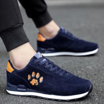 Korea Fashion Style pria sepatu sepatu pria sepatu (Biru tua)