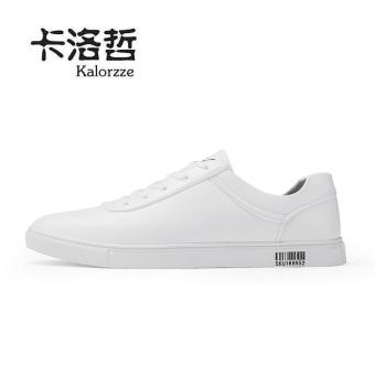 Korea Fashion Style siswa muda pria kebugaran kasual sepatu pasang sepatu (Model laki-laki + Putih)
