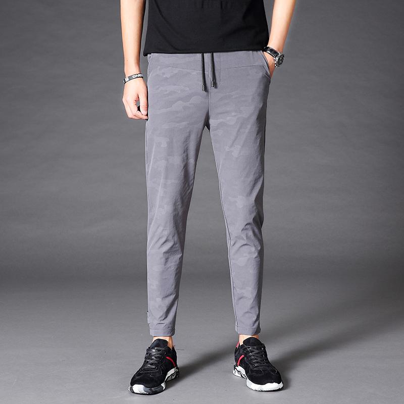 ... Cheap online Korea Fashion Style Slim celana stretch kaki stoking celana Abu abu