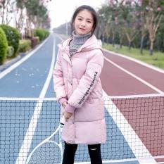Korea Fashion Style tebal baru musim dingin jas anak anak empuk (Merah muda)