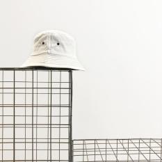 Korea Fashion Style Warna Solid Laki-laki Pelindung Terik Matahari Matahari Topi Topi (Putih