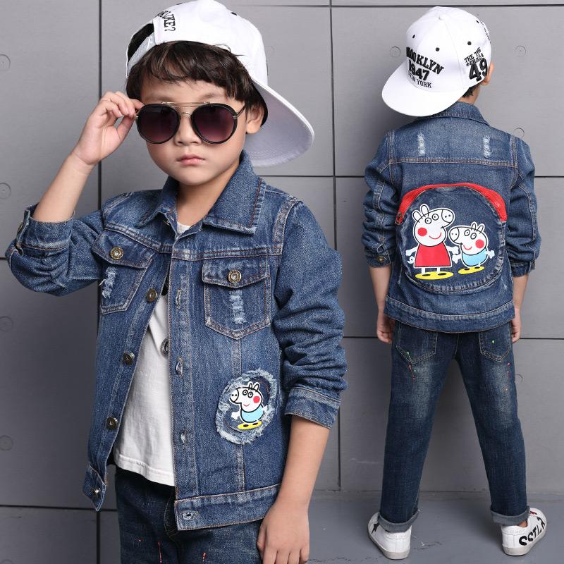 Korean-style boy's New style Spring and Autumn cowboy jacket Baobao jacket (Gambar warna