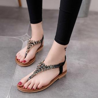 Cek Harga Baru Mens Cleveland Cavaliers Situs Pembanding Harga Source · Korean style crystal female student flip flop sandals flat sandals Hitam