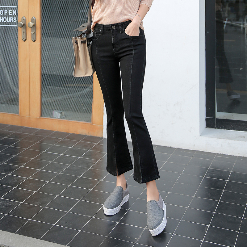 Korean Style Cowboy Black Autumn Ankle Length Pants Skinny Pants Source Korean style female autumn New