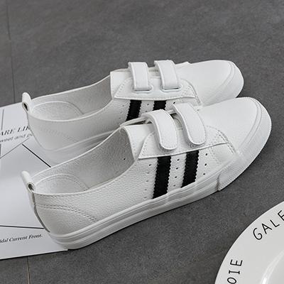 Cheap online Korean-style female shoes casual shoes wild canvas shoes (Putih dan hitam