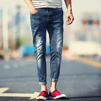 Korean-style men skinny Slim fit-ankle-length pants jeans (308 model