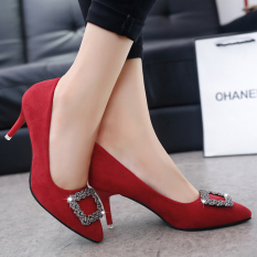 Korean-style spring New style pointed thin heeled high-heeled shoes women's shoes (