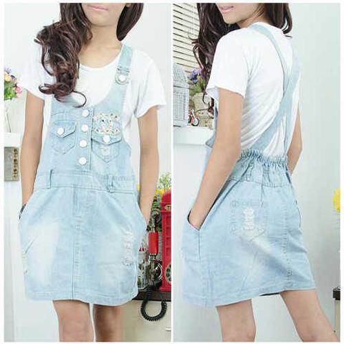 Kyoko Fashion Dress Jeans Blue .