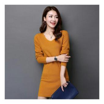 harga Ladies Fashion PRODUK LARIS Dress Kaos Lengan Panjang Luisa / Dress Santai Kasual / Kaos Wanita / Tunik Wanita / Baju Terusan / Gaun Vivi NR - Yellow - korea Lazada.co.id