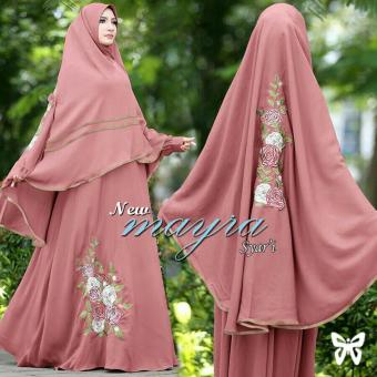 Ladies Fashion Syari Syar'i Maxi Ayra / Jersey Premium / Hijab Gamis Muslim / Fashion Muslim / Dress maxi (yrama) SS - Peach - korea