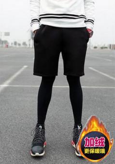 Tokoyhv Harga Laki Laki Ayat Yang Sama Legging Ketat Celana Hip Hop Murni Hitam Pendek Ditambah Beludru Legging Hitam Online Review
