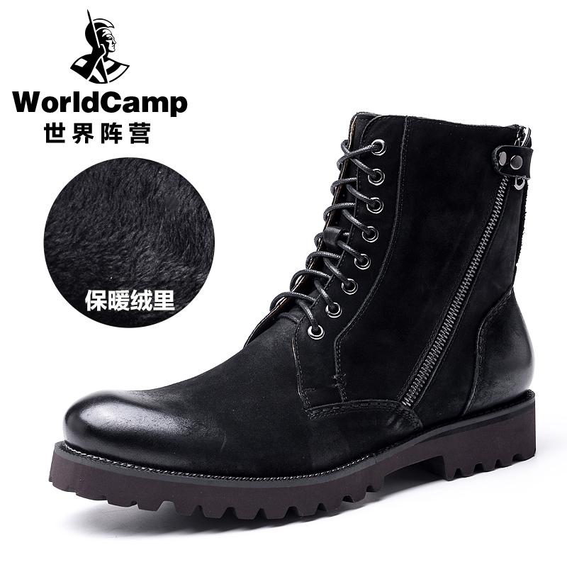 Flash Sale Laki-laki kulit sepatu boots pria Dr. Martens (Hitam (Beludru