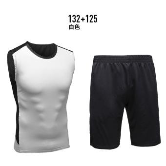 Beli Laki-laki Musim Semi Dan Musim Panas Pelatihan Kebugaran Pakaian Kebugaran Pakaian (Putih 132 + 125) (Putih 132 + 125) Murah