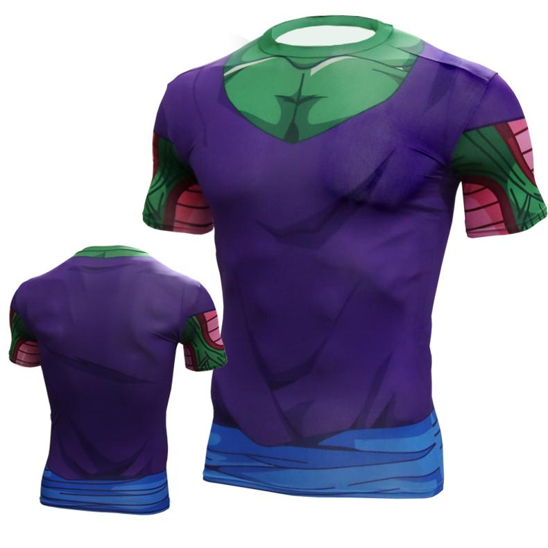 Laki-laki olahraga peregangan celana ketat lengan pendek t-shirt (Dragon Ball #