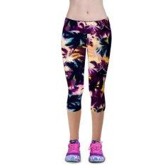 LALANG Legging untuk Olahraga Fitness Stretch Cropped Pants 29#
