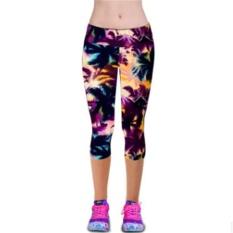 LALANG Wanita Latihan Legging Olahraga Fitness Stretch Cropped Pants (29 #)