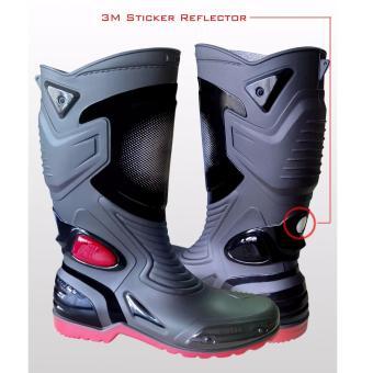 ... Lbag Sepatu Karet Pvc Anti Tembus Air Banjir Hujan Ap Boots Moto 3  Moto3 Sepatu touring ... 69443b7674