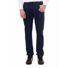 Lee Cooper Jeans Pria Straight Fit Dark Indigo LC 118 Rinse