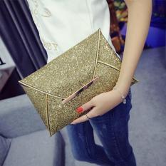 Leegoal Baru Wanita Clutch Bag Handbag Payet Amplop, Emas