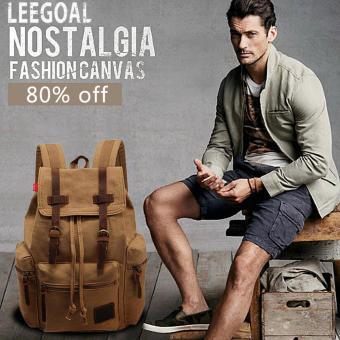 Leegoal lepas semua kebutuhan bisnis tas ransel kanvas untuk wanita pria (Dril)
