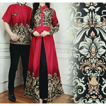 legiONshop-busana batik couple | baju batik couple | dress batik couple | baju pasangan MIRA red
