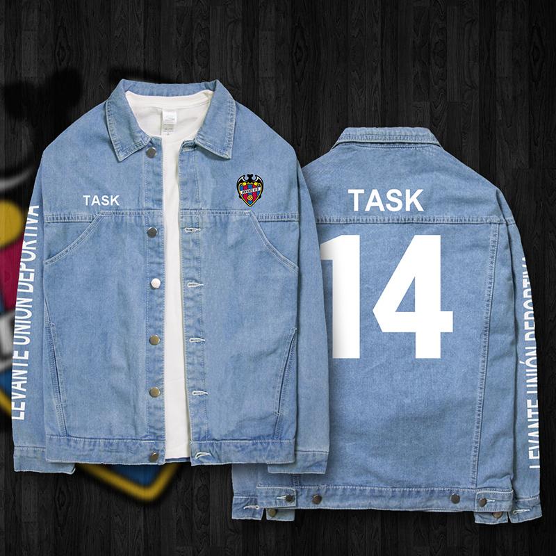Levante versi Korea dari musim semi dan musim gugur pria kasual denim kemeja jaket denim jaket