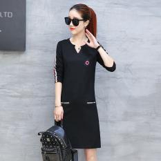 Liar perempuan longgar bagian panjang bottoming kemeja versi Korea dari lengan panjang t-shirt (