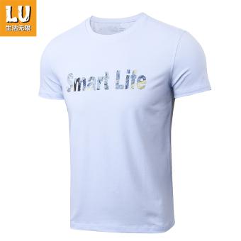 Harga Lifeunlimited katun stretch laki-laki musim panas kemeja kasual  kebugaran lengan pendek t-shirt (11712603 biru 70) 8940414bca