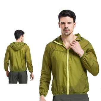 Lightweight Rainwear Ultra-thin Breathable Quick-drying Cycling Running Windbreaker Jacket - intl - 2