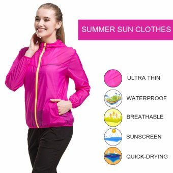 Lightweight Rainwear Ultra-thin Breathable Quick-drying Cycling Running Windbreaker Jacket - intl