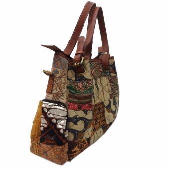 Detail Gambar LIN'S Craft Tas Kulit - Kapal Serut Baru Perca Batik - Coklat Terbaru