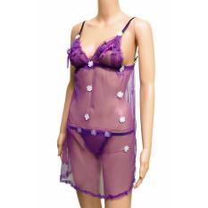 Lingerie Seksi - Sexy Sleep Dress (VLIN560) Ungu