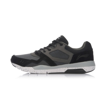 Gambar LINING musim gugur ringan bernapas memakai sepatu olahraga sepatu  pria (New dasar hitam abu 092204fd93