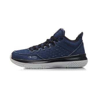 LINING sepanjang hari baru bantalan musim dingin sepatu olahraga laki-laki sepatu pria (Gelap biru/New dasar hitam/mikrokristalin abu-abu)
