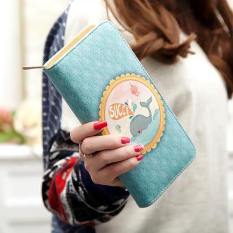 Linjiaxiaofei perempuan Jepang dan Korea Fashion Style kartun ritsleting dompet wanita dompet wanita wallet (Senang