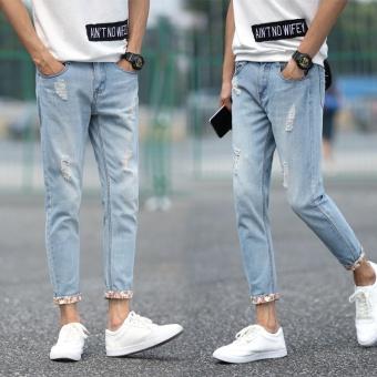 Puding Pria Langsing Kaki Santai Celana Levis Biru Muda Source · Longgar Jepang Dan Korea Selatan