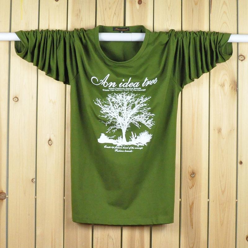 Ukuran Plus kode pria dicetak LOOESN lengan pendek t-shirt (Hitam .