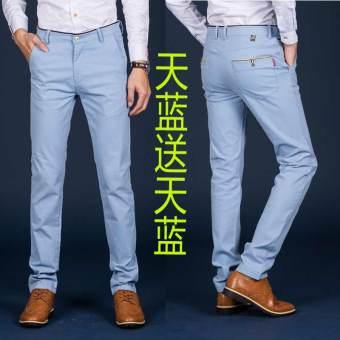 Gambar Longgar Korea Fashion Style bagian tipis Slim musim panas lurus celana celana panjang (986