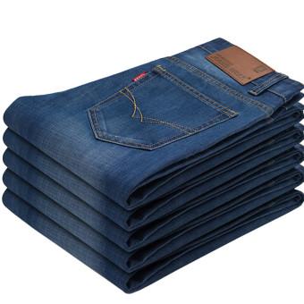 Perbandingan harga Longgar Korea Fashion Style Lurus Ukuran Celana Jeans Besar (Berwarna terang #)