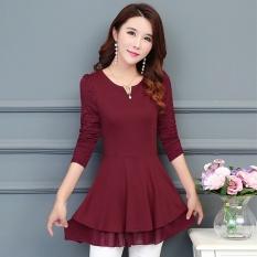Longgar Korea Fashion Style perempuan musim gugur dan musim dingin baru style sifon blus bottoming kemeja