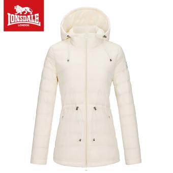 9fc7c042 Gambar LONSDALE warna solid perempuan Slim berkerudung blus jaket (Off white )