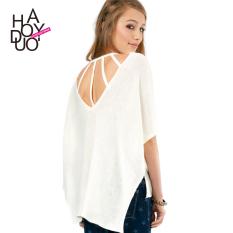 LOOESN Haoduoyi2017 Shishang baru berongga sweater (Putih)