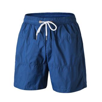 Beli LOOESN kasual cepat kering berjalan kebugaran lima celana kebugaran celana pendek (Biru tua) Online