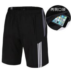 Laki-laki musim panas kebugaran joging bulu tangkis pakaian (5015 abu hitam dan putih