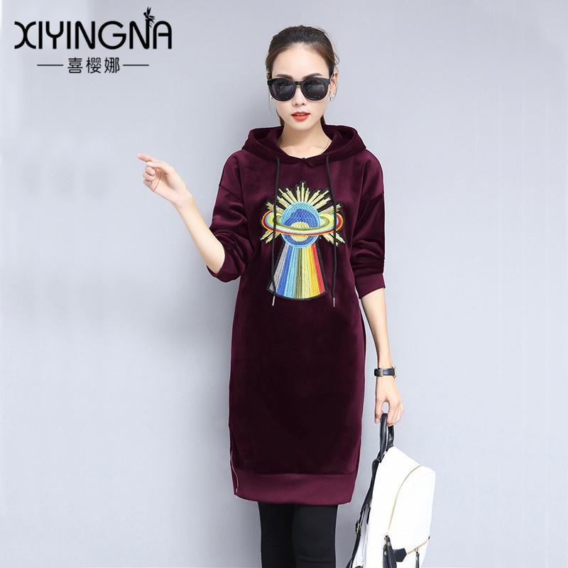 Flash Sale LOOESN Korea Fashion Style beludru emas musim gugur dan musim dingin baru sweater (