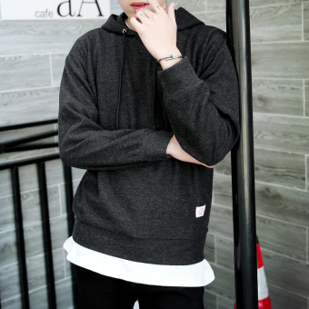 Pelacakan Harga LOOESN Korea Fashion Style jas siswa berkerudung sweater pullover sweater (Abu-abu