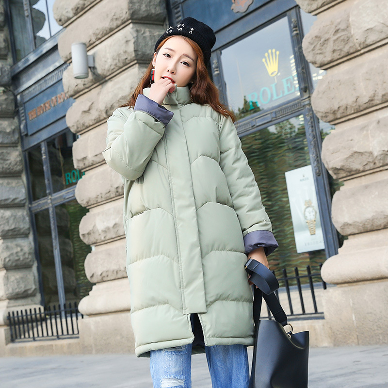 Flash Sale LOOESN Korea Fashion Style perempuan bagian panjang baru mantel empuk (Kacang hijau)