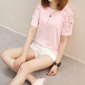 LOOESN Korean-style female New style lace bottoming shirt T-shirt (557 *