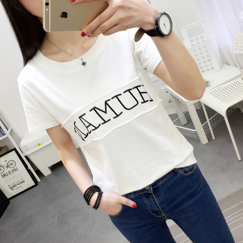 Pencari Harga Ulzzang Korean style riveted female autumn shoes Source · Cheap online LOOESN Korean style lettered printed slimming T shirt 554 putih