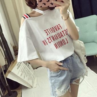 LOOESN Korean-style New style slimming short sleeved t-shirt (460 (putih